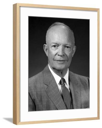 President Dwight Eisenhower Portrait-Stocktrek Images-Framed Art Print
