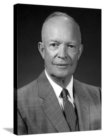 President Dwight Eisenhower Portrait-Stocktrek Images-Stretched Canvas Print