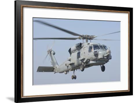 An Mh-60R Seahawk in Flight over the Persian Gulf-Stocktrek Images-Framed Art Print