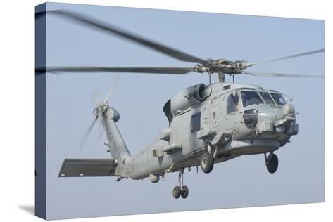 An Mh-60R Seahawk in Flight over the Persian Gulf-Stocktrek Images-Stretched Canvas Print