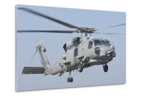 An Mh-60R Seahawk in Flight over the Persian Gulf-Stocktrek Images-Metal Print