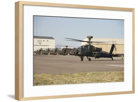 Ah-64D Apache Longbow Taxiing Out to the Launch Pad-Stocktrek Images-Framed Art Print