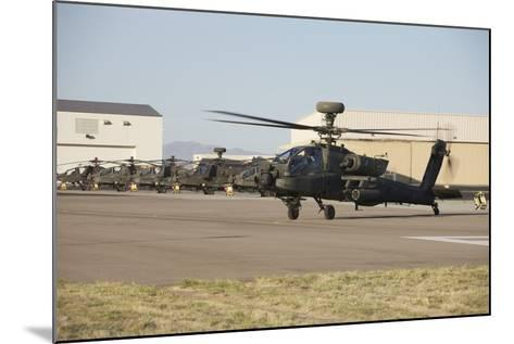 Ah-64D Apache Longbow Taxiing Out to the Launch Pad-Stocktrek Images-Mounted Photographic Print
