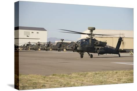 Ah-64D Apache Longbow Taxiing Out to the Launch Pad-Stocktrek Images-Stretched Canvas Print