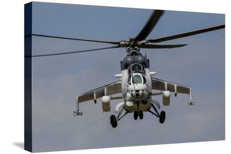 A Mil Mi-35 of the Czech Air Force in World Ware II Markings-Stocktrek Images-Stretched Canvas Print