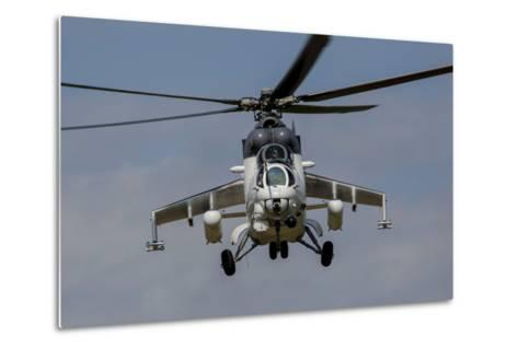 A Mil Mi-35 of the Czech Air Force in World Ware II Markings-Stocktrek Images-Metal Print