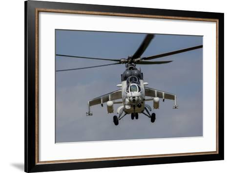 A Mil Mi-35 of the Czech Air Force in World Ware II Markings-Stocktrek Images-Framed Art Print