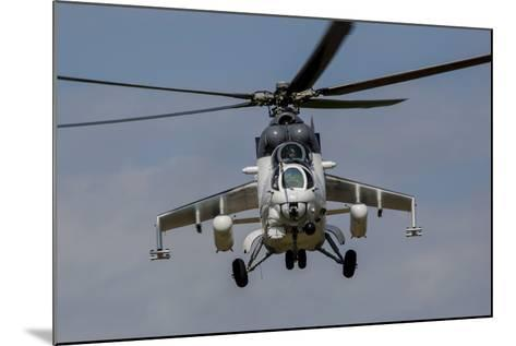 A Mil Mi-35 of the Czech Air Force in World Ware II Markings-Stocktrek Images-Mounted Photographic Print