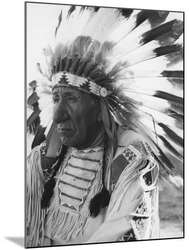 Portrait of Chief Red Cloud in Headdress-Stocktrek Images-Mounted Photographic Print