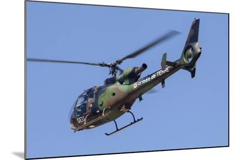 French Army Gazelle Helicopter in Flight over France-Stocktrek Images-Mounted Photographic Print