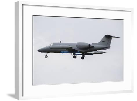 Learjet Used to Simulate Electronix Threats at Nato Exercise Frisian Flag 2015-Stocktrek Images-Framed Art Print