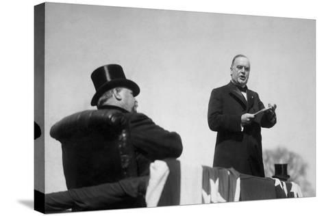 Vintage Photo of President William Mckinley Making His Inaugural Address-Stocktrek Images-Stretched Canvas Print