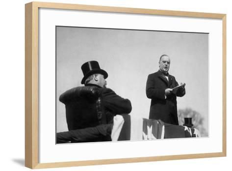 Vintage Photo of President William Mckinley Making His Inaugural Address-Stocktrek Images-Framed Art Print