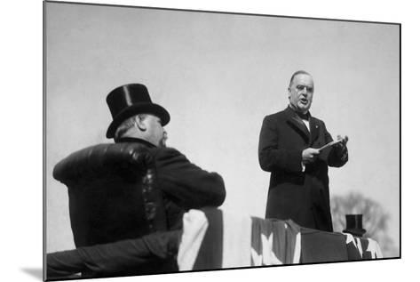 Vintage Photo of President William Mckinley Making His Inaugural Address-Stocktrek Images-Mounted Photographic Print