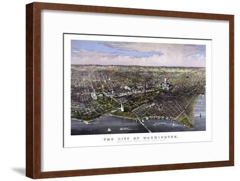 Vintage Print of Washington D.C-Stocktrek Images-Framed Art Print