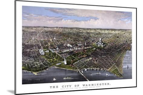 Vintage Print of Washington D.C-Stocktrek Images-Mounted Art Print