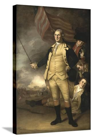 Painting of General George Washington at the Battle of Princeton-Stocktrek Images-Stretched Canvas Print