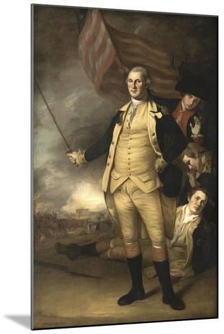 Painting of General George Washington at the Battle of Princeton-Stocktrek Images-Mounted Art Print