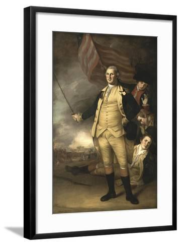 Painting of General George Washington at the Battle of Princeton-Stocktrek Images-Framed Art Print