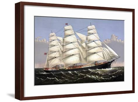 Vintage Print of the Clipper Ship Three Brothers-Stocktrek Images-Framed Art Print