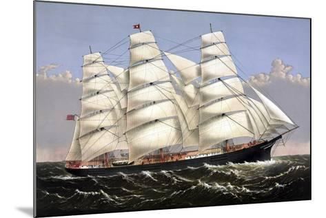 Vintage Print of the Clipper Ship Three Brothers-Stocktrek Images-Mounted Art Print