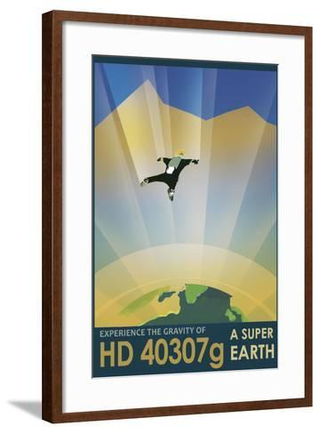 Experience the Gravity of a Super Earth in This Retro Space Poster--Framed Art Print