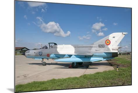 A Romanian Air Force Mig-21C Airplane at Camp Turzii Air Base, Romania-Stocktrek Images-Mounted Photographic Print