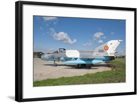 A Romanian Air Force Mig-21C Airplane at Camp Turzii Air Base, Romania-Stocktrek Images-Framed Art Print