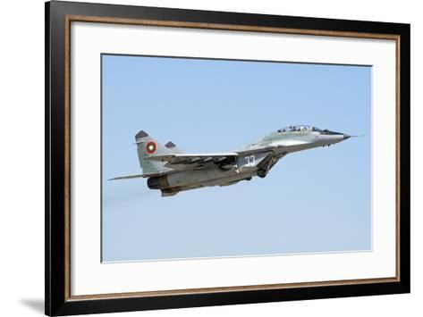 Bulgarian Air Force Mig-29Ub Fulcrum Taking Off-Stocktrek Images-Framed Art Print