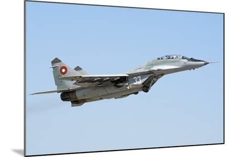 Bulgarian Air Force Mig-29Ub Fulcrum Taking Off-Stocktrek Images-Mounted Photographic Print