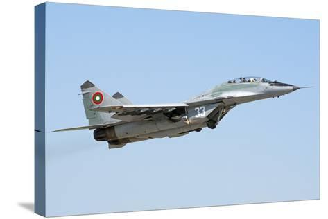 Bulgarian Air Force Mig-29Ub Fulcrum Taking Off-Stocktrek Images-Stretched Canvas Print
