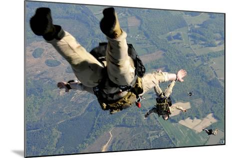 Navy Seals Jump from the Ramp of a C-17 Globemaster Iii over Virginia-Stocktrek Images-Mounted Photographic Print