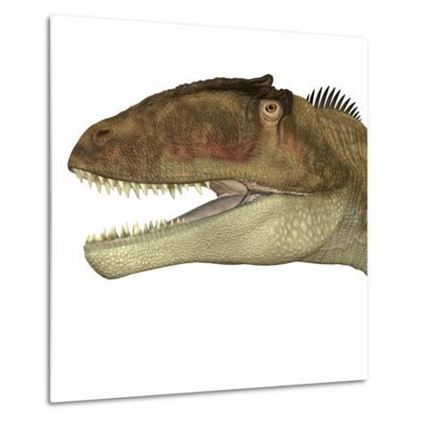 Carcharodontosaurus Dinosaur Head-Stocktrek Images-Metal Print