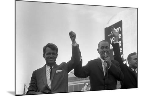 President Lyndon Johnson Campaigning with Robert Kennedy-Stocktrek Images-Mounted Photographic Print