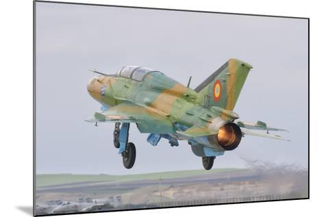 A Romanian Air Force Mig-21B Taking Off from Camp Turzii Air Base, Romania-Stocktrek Images-Mounted Photographic Print