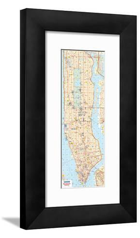 Michelin Official New York City Road Map Poster--Framed Art Print