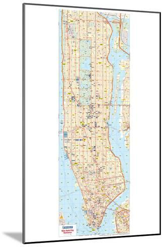 Michelin Official New York City Road Map Poster--Mounted Poster