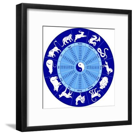 Chinese Calendar Animals-Olga_I-Framed Art Print
