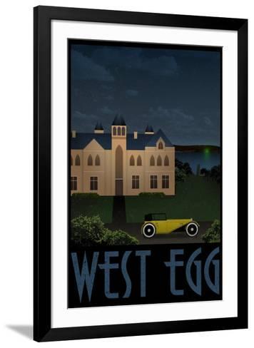 West Egg Retro Travel--Framed Art Print