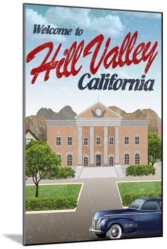 Hill Valley California Retro Travel--Mounted Art Print