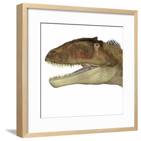 Carcharodontosaurus Dinosaur Head-Stocktrek Images-Framed Art Print