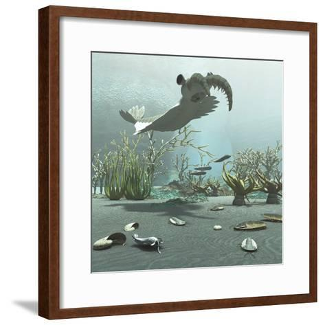 Animals and Floral Life from the Burgess Shale Formation of the Cambrian Period-Stocktrek Images-Framed Art Print