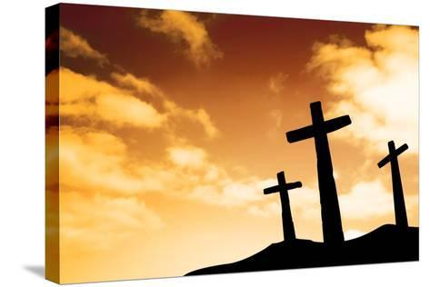 Crosses-SkyLine-Stretched Canvas Print