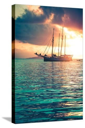 Recreational Yacht at the Indian Ocean-dvoevnore-Stretched Canvas Print
