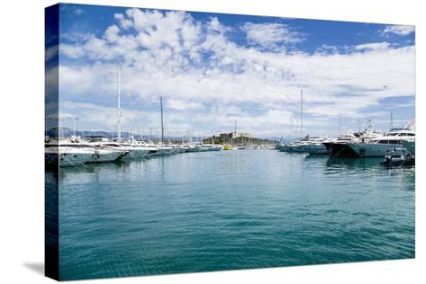 Antibes, France. Yachts in Port Vauban - 2- vvr-Stretched Canvas Print
