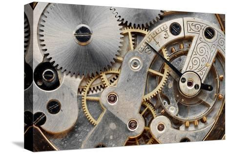 Vintage Clock Machinery-MIGUEL GARCIA SAAVED-Stretched Canvas Print