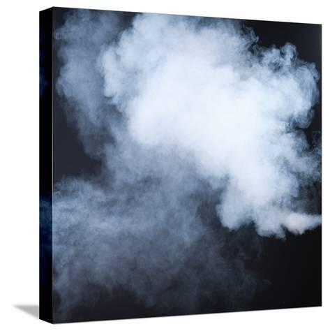 Smoke Isolated on Black- inna_astakhova-Stretched Canvas Print