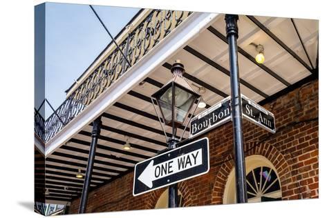 Bourbon Street Sign-Fotoluminate LLC-Stretched Canvas Print