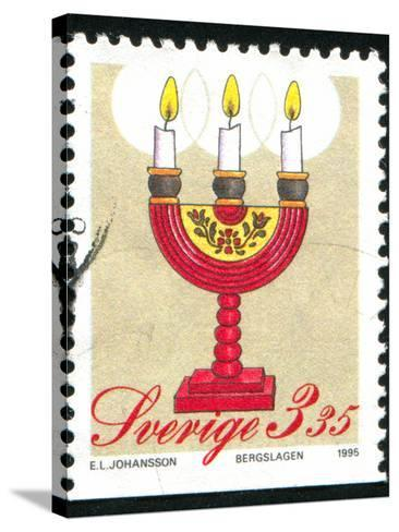 Christmas Candlesticks-rook76-Stretched Canvas Print