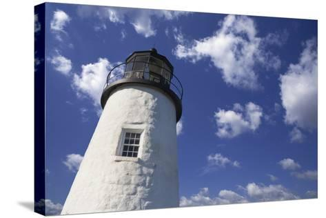 Lighthouse in the Cloudy Sky- benemale-Stretched Canvas Print